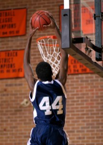 Photo of dunking a basketball