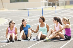 High School Girls on Track