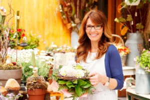 Female Florist Small Business Flower Shop Owner