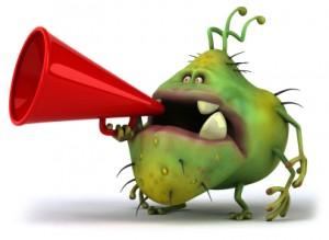 Germ Holding a Megaphone