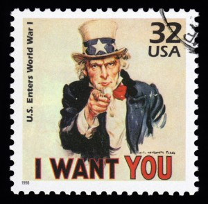 Uncle Sam I Want You Stamp